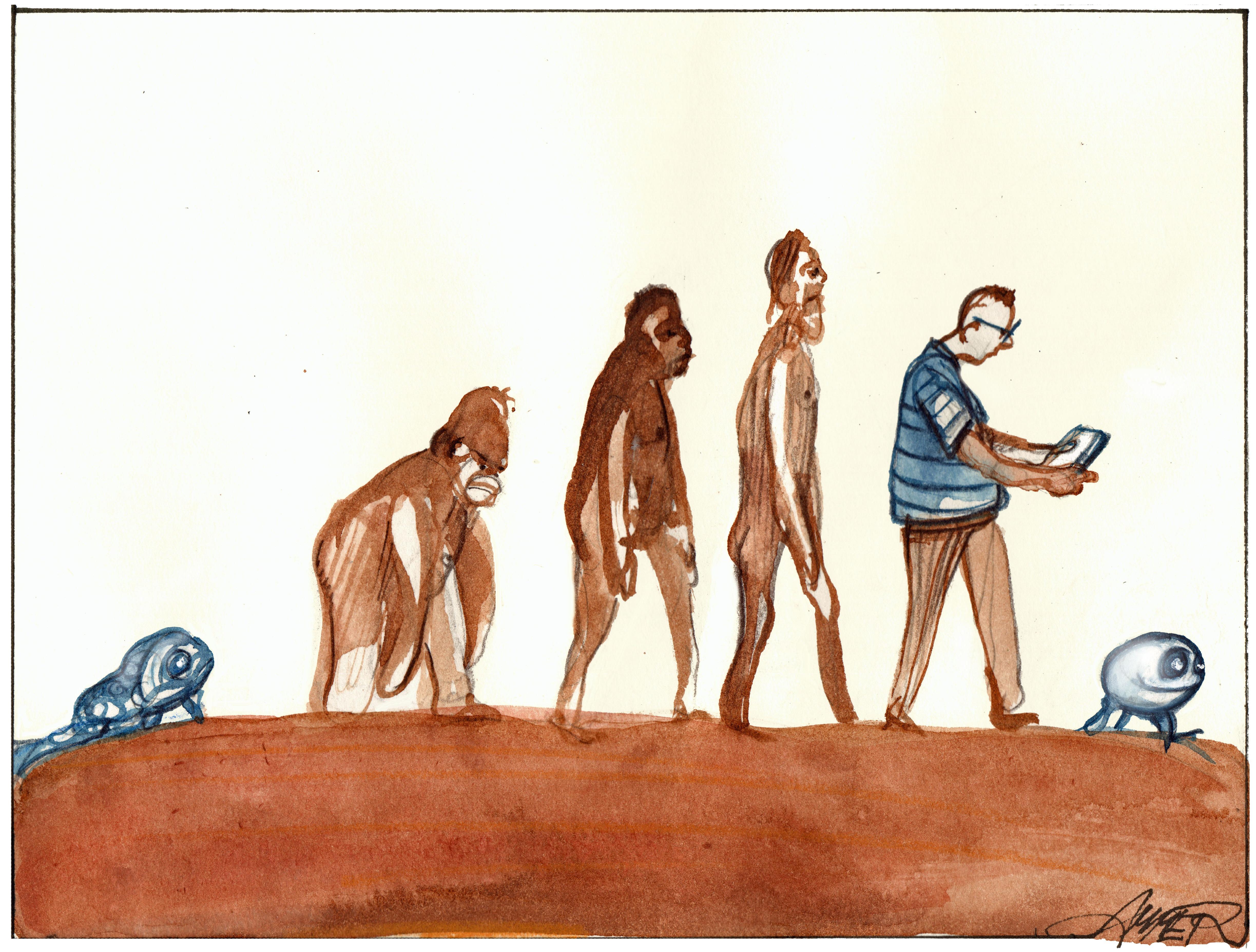 Homo sapiens - Cartoon von Wolfgang Amer